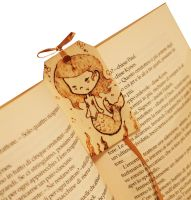Wooden bookmark Cute Siren by ChibiPyro
