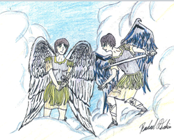 St. Michael and Lucifer by Tamuril2