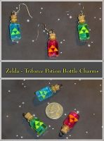 Zelda - Triforce Potion Charms by YellerCrakka