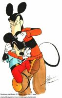 Mickey get's a Noogie by Slasher12