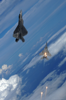 F22 Raptor F15 Strike Eagle by pilotroom