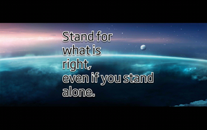 Stand for what is right by devinemrs
