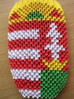 3D origami - Arms of Hungary by Ketike
