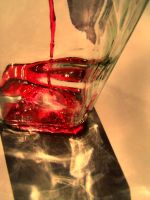 Pouring Red Sun by Naenew