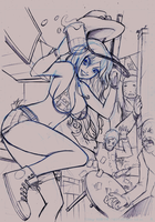HonkyTonk Trouble Maker - Pencils by sykoeent