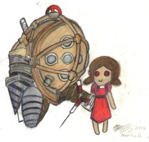 little sister and big daddy by silentshadow16