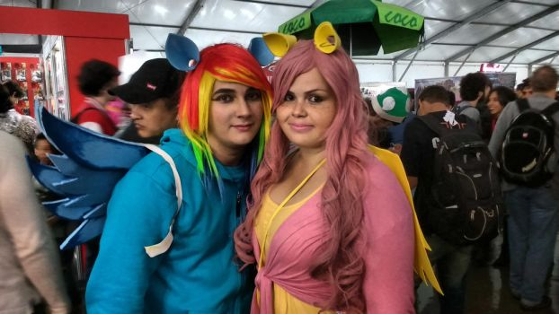 #AnimeFriends2016 - Rainbow Dash / Applejack by mercenaries2009