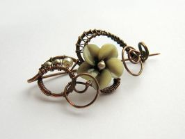 Brooch 'Smoky orchid' by UrsulaOT
