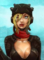 Pilot Girl Close Up by victter-le-fou