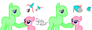 Filly and Stallion .:I want to be like you:. Base by GabbyPaint-PonyBases