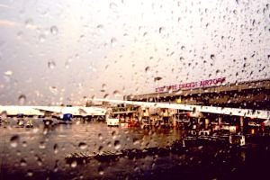 Changi Airport In the Rain by candentesomnium