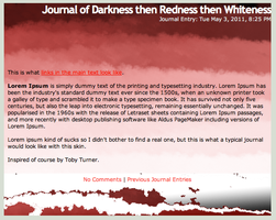 Journal of DarkRedWhiteness by Takes-Two