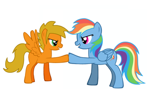 Flaming Wing and Rainbowdash by Tenthsgirl1994