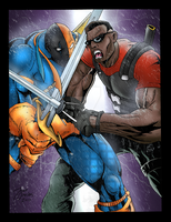 Blade VS Deathstroke - Storm by BIG-D-ARTiZ