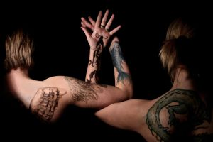 Intertwined Tattoos by Internal-Disaster