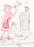 Giantess Amy Rose 3 by WhippetWild