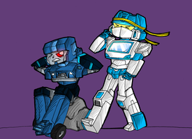 TFSG: Hound and Soundwave by xenotechnophile