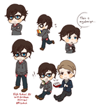 Will Graham AU doodles by Rugi-chan
