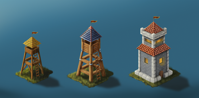 Game design - Watch Tower - Upgrades by air87art