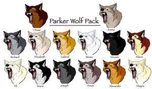 Parker Wolf Pack by Winter-Falls