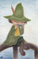 Snufkin playing his hermonica by atETemIaGArE