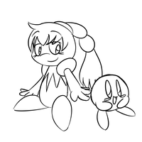 Tiff and Kirby Sketch by threshercakes