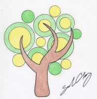 Chibi Tree Tattoo - 2011 by ArtemAmoris