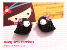 Black Birds Earrings by ChocoAng3l