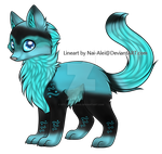 Water Themed Wolf Adopt by KitlynSolstice