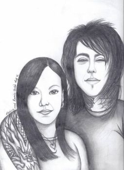 Ronnie Radke and my friend, Monica. (: by Freezingforheat