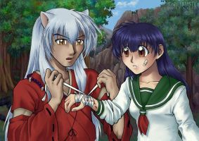 Inuyasha Kagome - care for you by SchneeAmsel