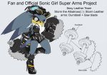 SonicSuperArmsProject  StormTheAlbatrossFemale by skyshek