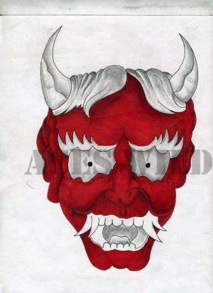ACES WILD Oni Mask its my design of