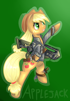 Applejack Commission by Ikasama