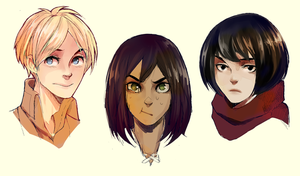 SNK: Hairswitch by Timsel-kun