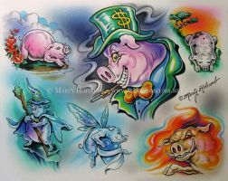 Pigs by Artistic-Tattooing