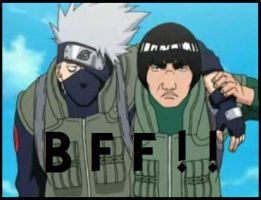 BFF Kakashi and Gai by HunniSempai
