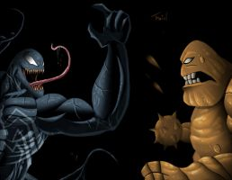 vemon vs clayface by TraiN8