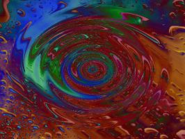 Rainbow Raindrops - Wave by MrsBerryde