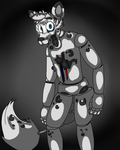FNAF Commission: Leo the Snow Leopard by WolfLinkWantsaCookie