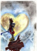 sora kingdom hearts by adeza