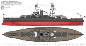 "USS ""Nevada"" - general view by Lioness-Nala"