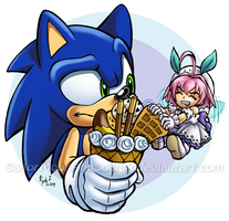 Waffle Thievery by SailorMoonAndSonicX
