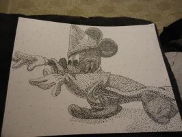Stipple Art-Mickey Mouse by 6-9Changeling
