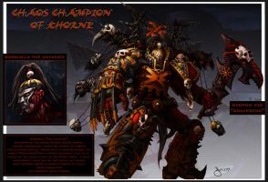 Chaos Champion of Khorne by jubjubjedi