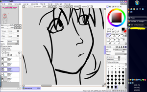 WIP - Love this lineart- by Marinta