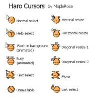 Haro Cursors for Windows by MapleRose