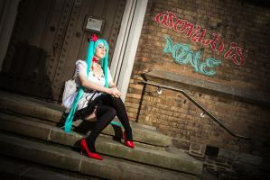 Impatience - Miku Hatsune World is Mine Cosplay by KendraKei