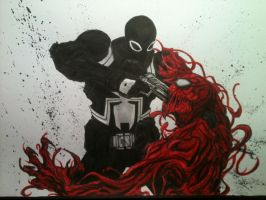 Agent Venom vs. Carnage by LeeChandler