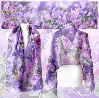 Lilac Silk Scarf - another take! by MinkuLul